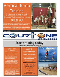 Vertical Jump Training flyer Bre Leslie