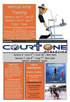 Vertical Jump Training flyer summer 2019
