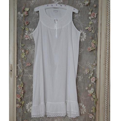 Nora White Cotton Nightdress