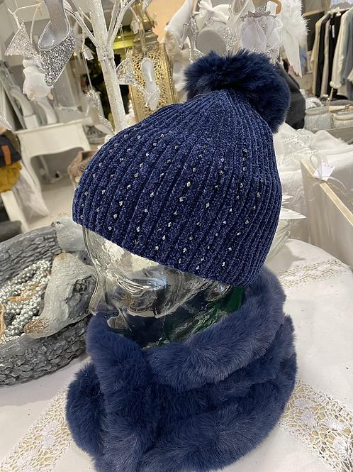 Navy Sparkly Hat