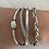 Thumbnail: Grey and Silver Multi Strap Bracelet