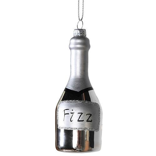 Silver Fizz Bottle Decoration