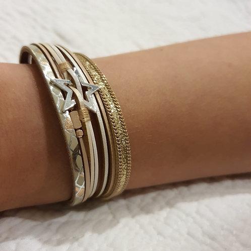 Gold Star Strap Bracelet