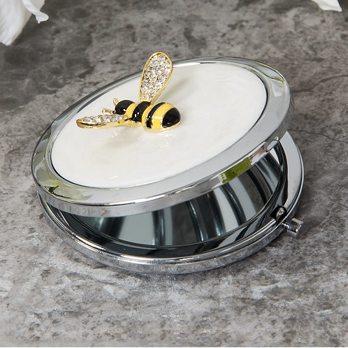 Bee Silverplated Compact