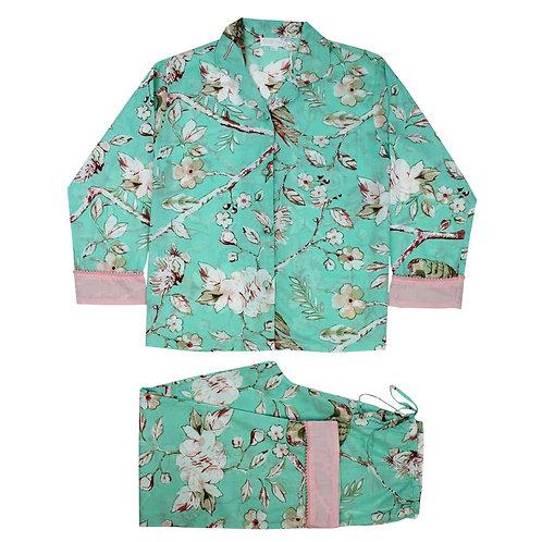 Mint Blossom Ladies Pyjamas