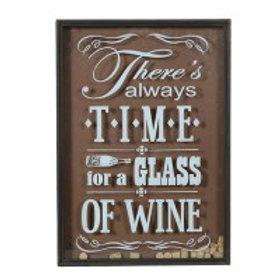 Wine Cork Deposit Wall Sign