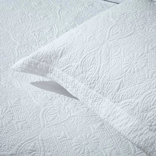 White Stitched Continental Cushion