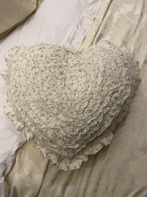 Ruffle Heart Cushion