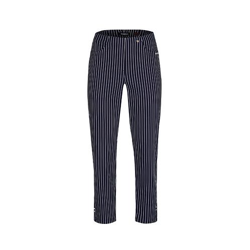 Robell Bella Navy Stripe 68cm Trousers