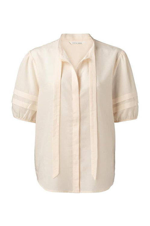 Yaya Blouse with Bow and Puff Sleeves