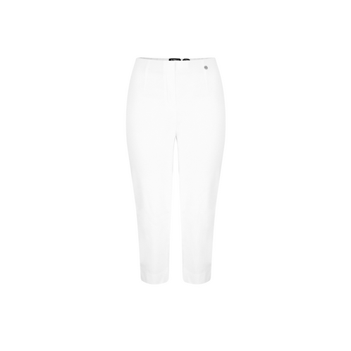 Robell Marie White Cropped Trousers