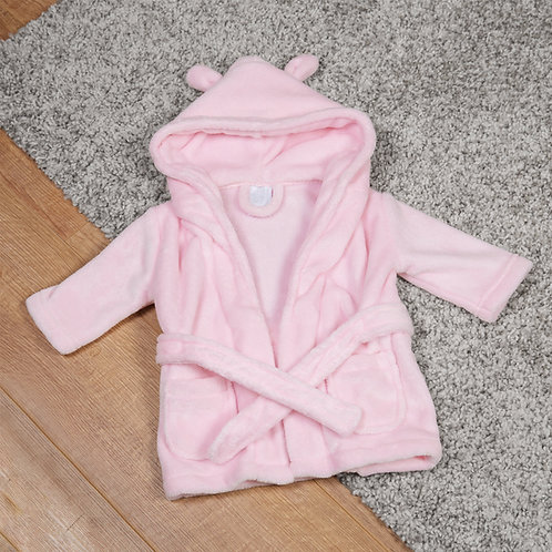 Pink Baby Dressing Gown