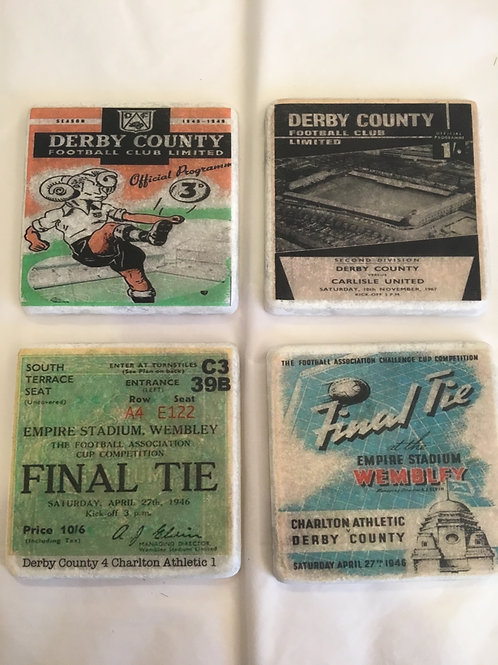 Derby County Coaster Set