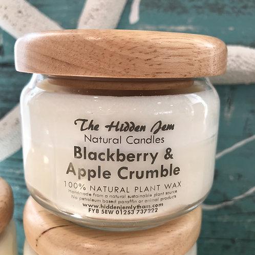 Hidden Jem Blackberry & Apple Crumble Pop Jar Candle 325ml