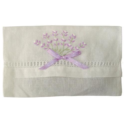 Lavender Embroidered Envelope