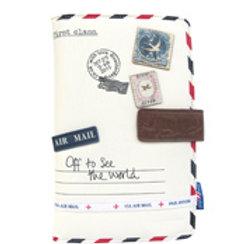 Paper Plane Cream Travel Wallet