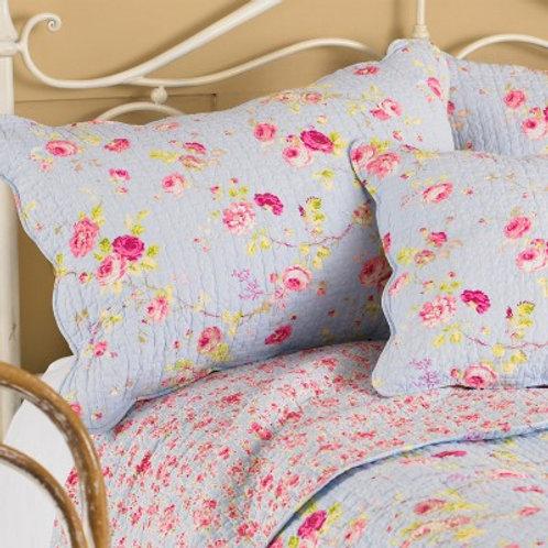 Blue Floral Pillow Sham