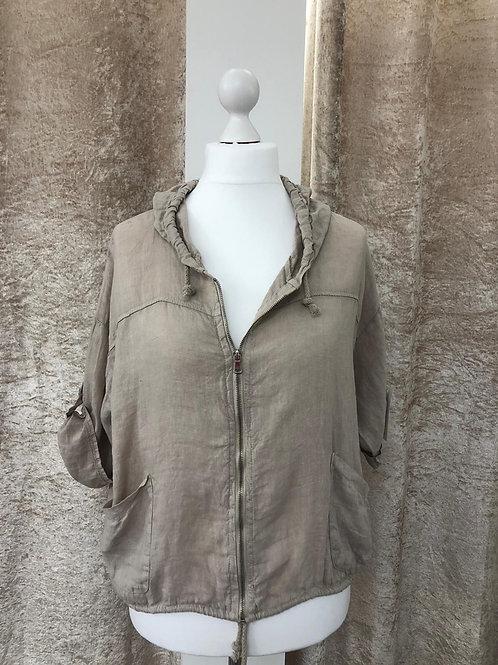 Linen Hooded Jacket