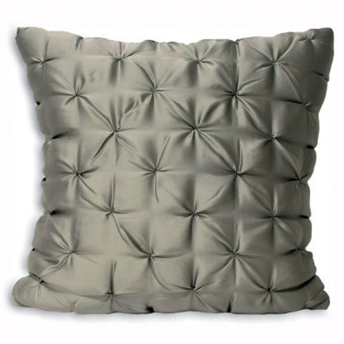 Grey Pintuck Cushion 55cm