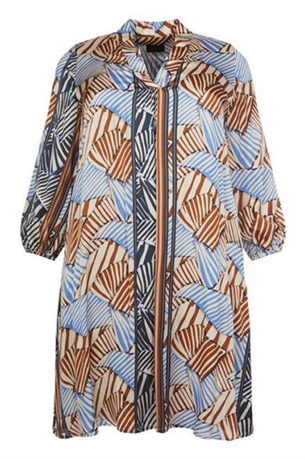 Q.Neel Patterned Dress