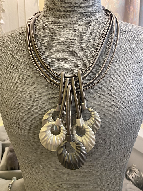 Grey Multi Strand Necklace