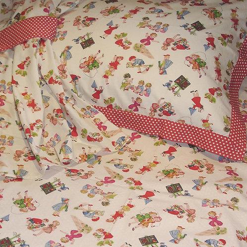 Girls at Play Pillowcase