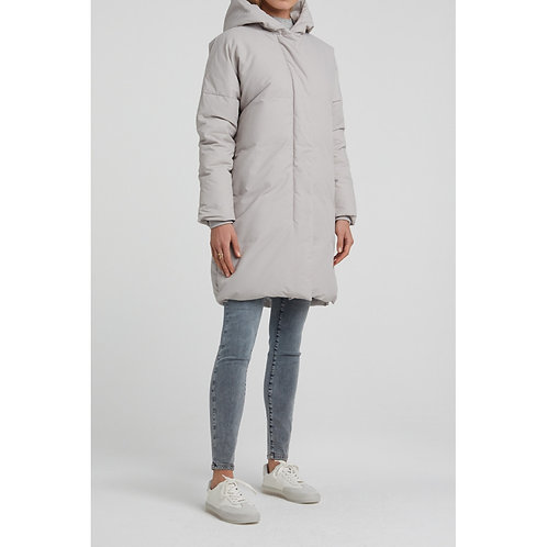 Yaya Light Grey Hooded Puffer Coat