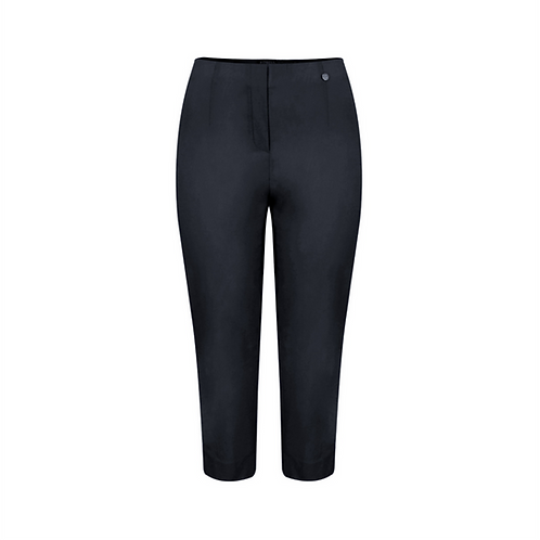 Robell Marie Navy Cropped Trousers
