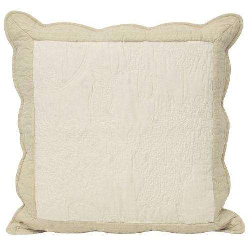 Fayence White & Taupe Cushion 45cm