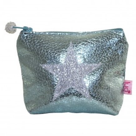 Glitter Star Purse Mint Green