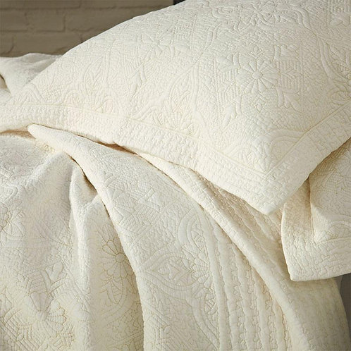Cream Stitched Pillowsham