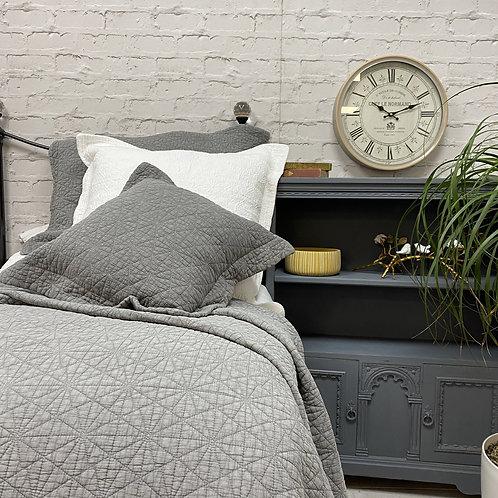 Stonewash Grey Stitched Quilt