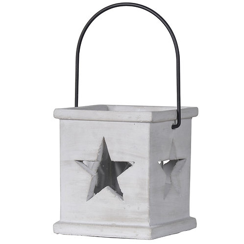 Small Grey Stars Lantern