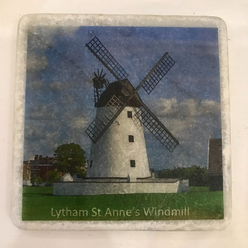 Lytham St Annes Windmill Marble Coaster