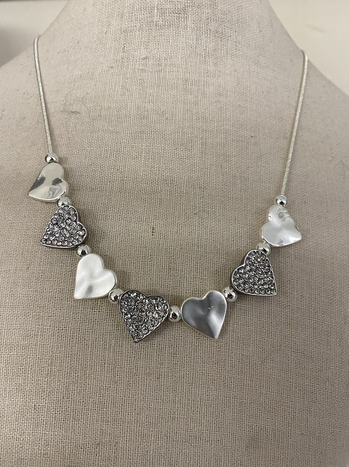 Silver and Grey Sparkle Necklace