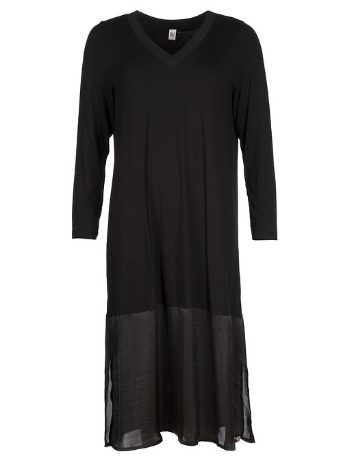 Que Black Dress with Panel