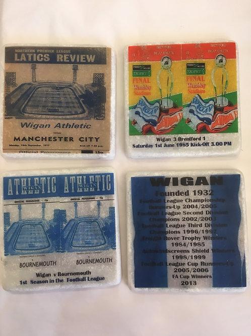 Wigan Athletic Coaster Set