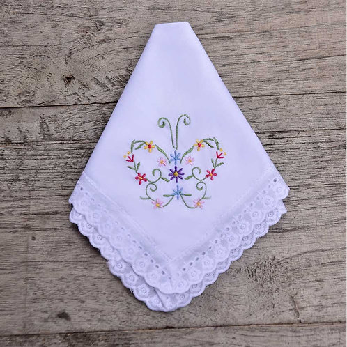 Butterfly Embroidered Hankie
