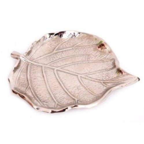 Silver Metal Leaf Dish