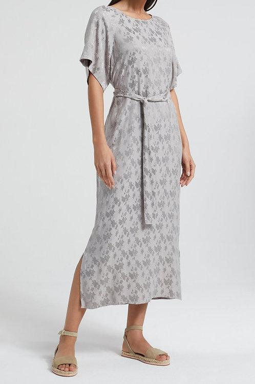 Yaya Silver Jacquard Dress