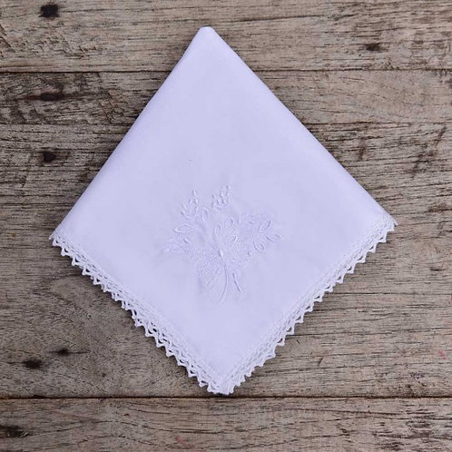 White Cotton Embroidered Hankie