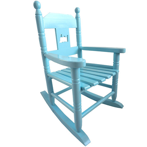 Blue Childrens Rocking Chair