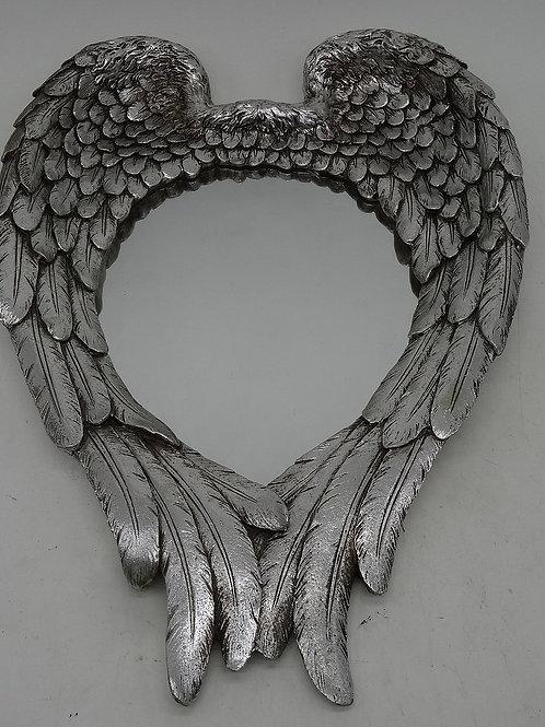 Antique Silver Wings Mirror