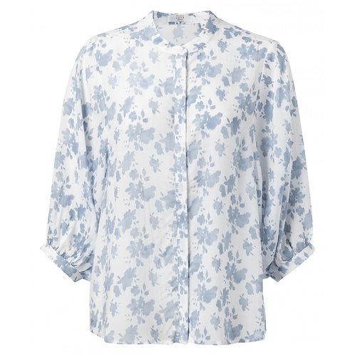 Yaya Lyocell Shirt with 3/4 Puff Sleeves