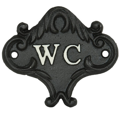 Iron 'WC' Sign
