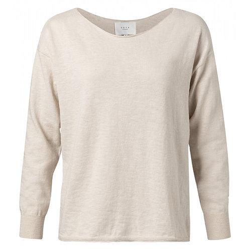 Yaya Pebble Cotton Blend Boat Neck Sweater