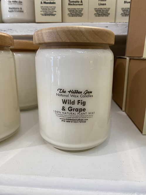 Hidden Jem Wild Fig & Grape Pop Jar Candle 650ml