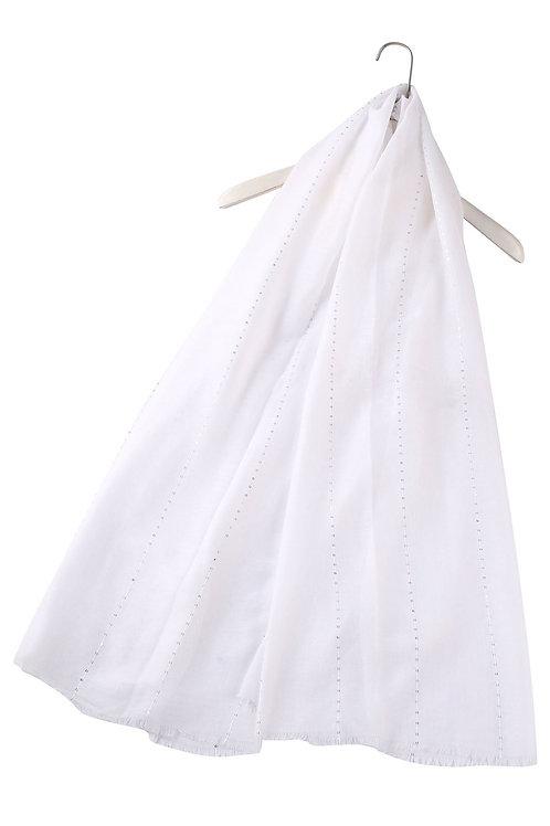 White Sequin Scarf