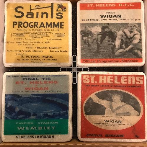 St Helens Rugby Club Coasters Set