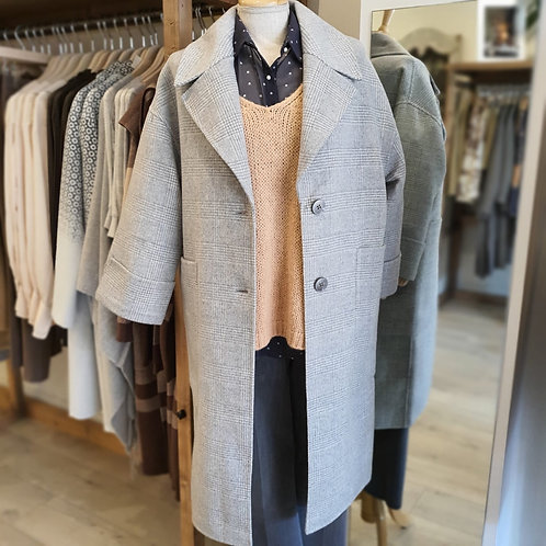 Yaya Long Grey Wool Coat